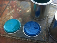 My choices for the paint. Pine green and petrol blue.