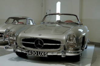 A pair of Mercedes Benz 300SLs.