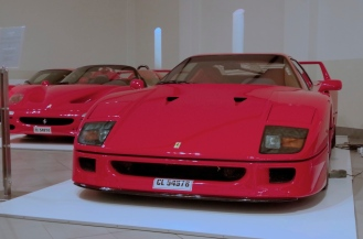 A Ferrari F40, F50 and Enzo.