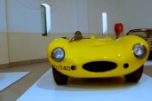 A genuine Jaguar D-Type, in Super Yellow.