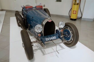 An Early Bugatti Race car. Type 51? or 25? Can't remember.