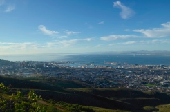 Looking down at Cape Town in the late afternoon sun.