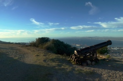Cannons below The King's Blockhouse on Devil's Peak.