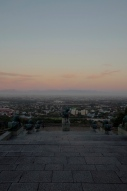 The view from Rhodes Memorial. With Fifa The Dog.