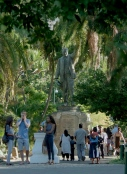 Rhode's statue in The Company's Gardens in Cape Town.