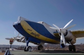 The Avro Shackleton on the roof of a fuel station in Soweto.