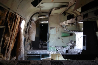 Inside the Shackleton, not pretty.