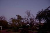 The moon still over Musina in the morning.