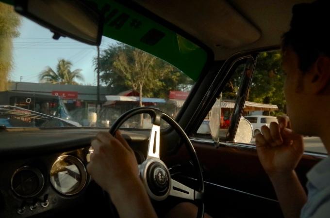 Driving in Dar es Salaam.