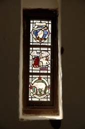 The windows in the chapel are undamaged by time.