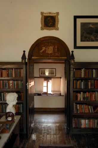 The door to the library.