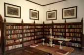 The library was stacked with history, biographies and first editions.