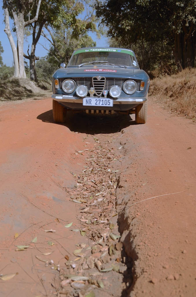 This road was no issue for the car.