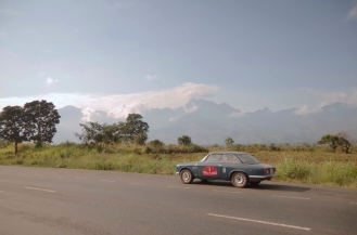 The Uluguru Mountains in the distance.