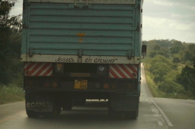A rather noncommittal truck driver.