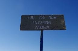 Sign on Vic Falls Bridge.