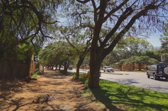 Walking the dusty streets of Lusaka.