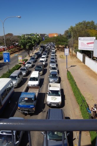 Traffic in Lusaka, Addis Ababa Road.