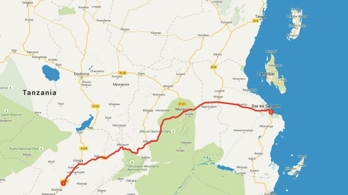 Kisolanza to Dar es Salaam, my most ambitious day yet.