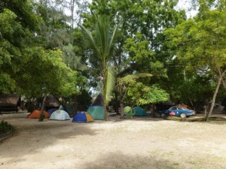 Tent City, Mikadi Beach. Photo Credit Christina Strasser, gettinghigher.wordpress.com