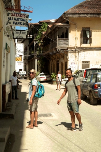 Anders and Pascal in Stone Town,