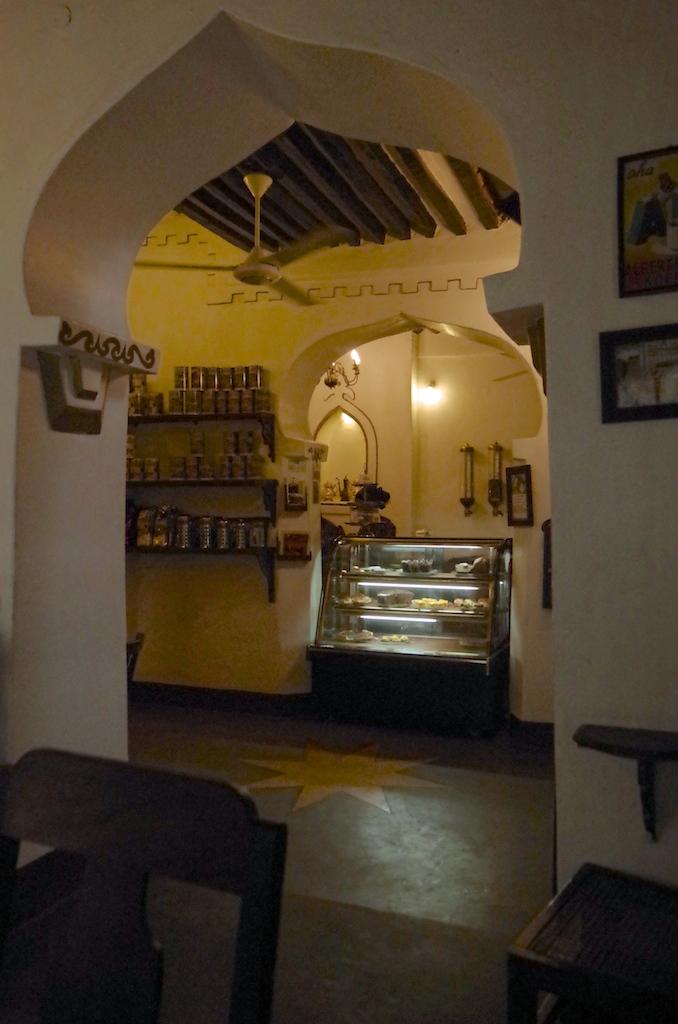Inside Zanzibar Coffee.