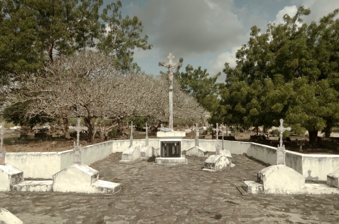 The graves of the missionaries.