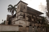 The mission house. Falling down and rotting.