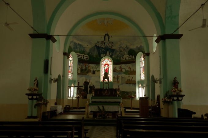Inside the 2nd Church.