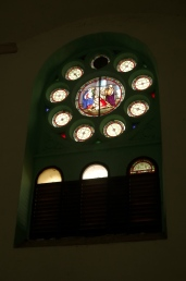 Old stained glass in the 2nd Church.