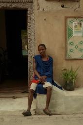 The door guard at Firefly, a Masai.