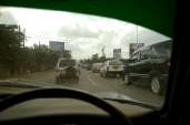 Ah, traffic jams. Everyday, 7am-10pm, there is a traffic jam in Nairobi.