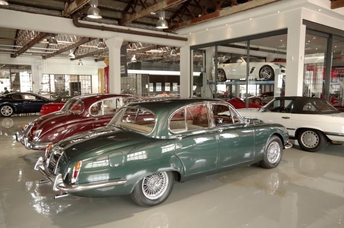 A pair of jaguar S Types.