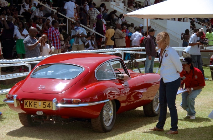 A Jaguar E Type.