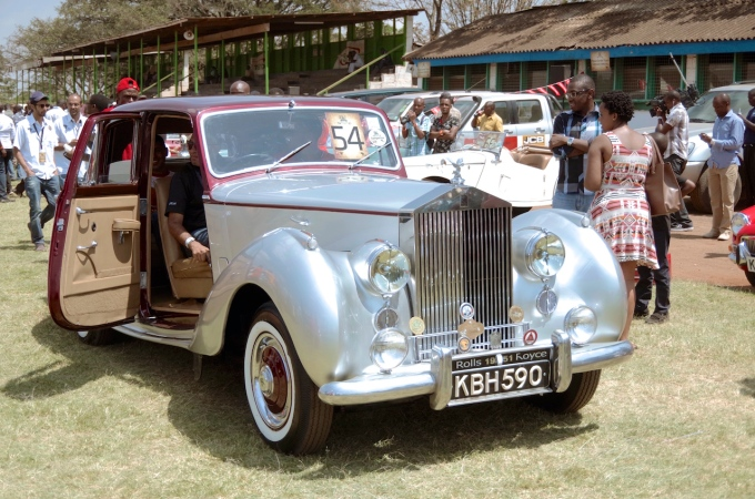 A Rolls Royce at the African Concours D'Elegance in Nairobi.