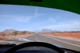 The Samburu Mountains in the distance.