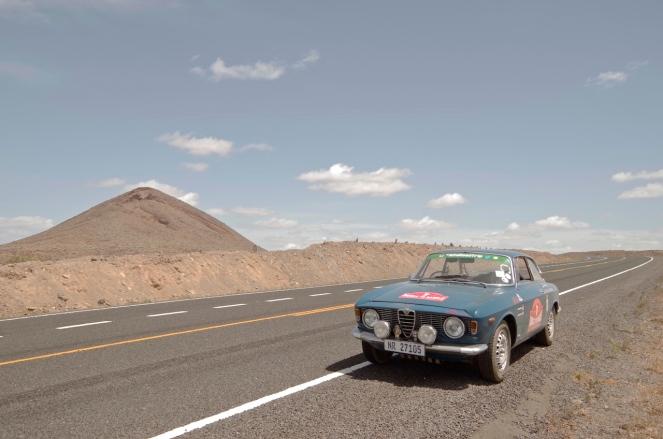 On the road outside Marsabit.