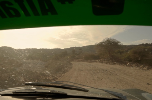 Climbing the hill towards Moyale.