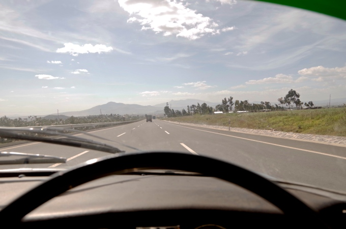 The new expressway in Ethiopia.
