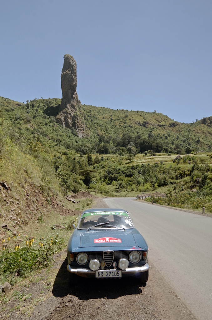 A rock formation in the hills near Gondar.