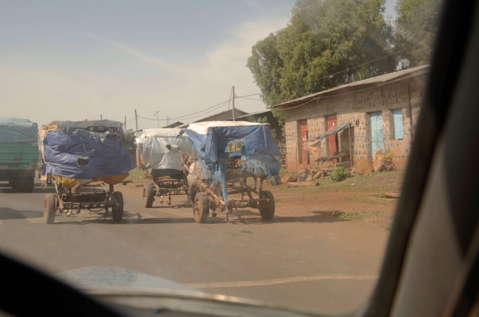 Traffic on the roads, Ethiopian style.