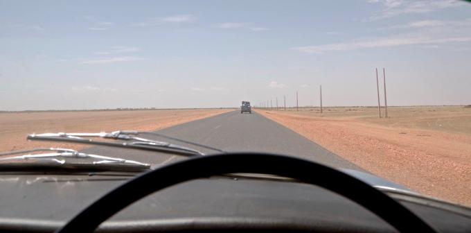 South of Khartoum.