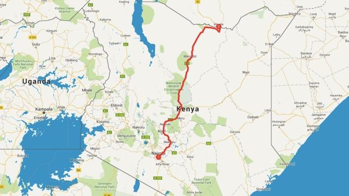 800 kilometers to Ethiopia.