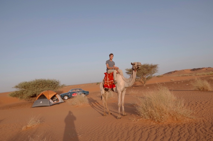 Dear author on a camel. This counts as my horse-riding for at least a few years.