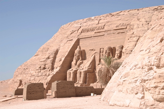 The Temple at Abu Simbel.