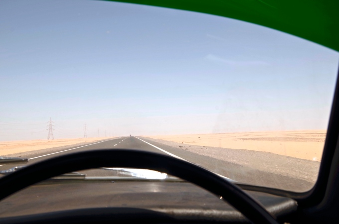 On the desert road to Aswan.