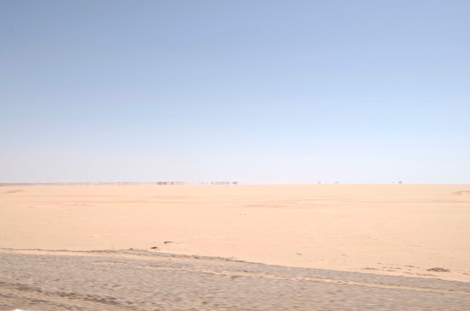 The empty desert of South Egypt.