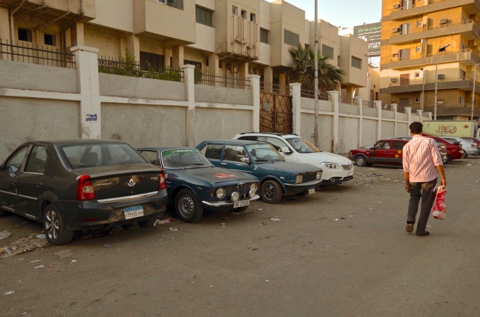 My car on the backstreets of Aswan.