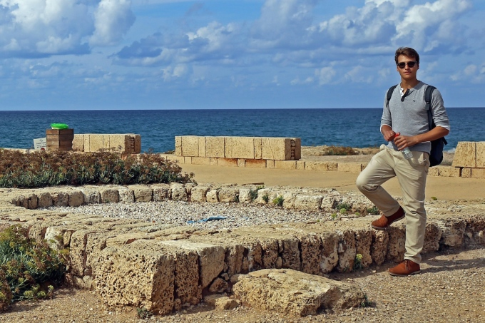 Your dear author, at Caesarea, Israel.