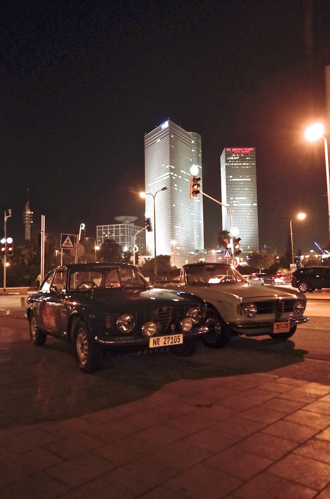 Two special Alfa Romeos in Tel Aviv.